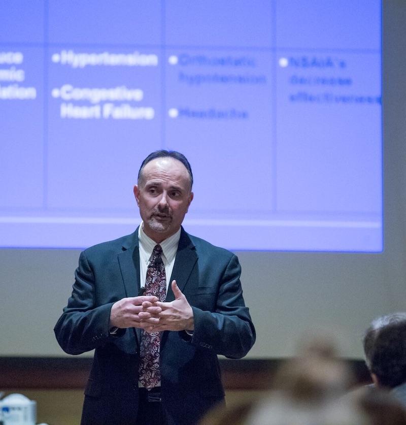 tom viola speaking on dental pharmacology